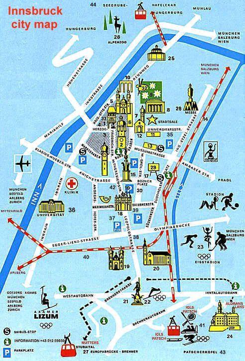 austria innsbruck map