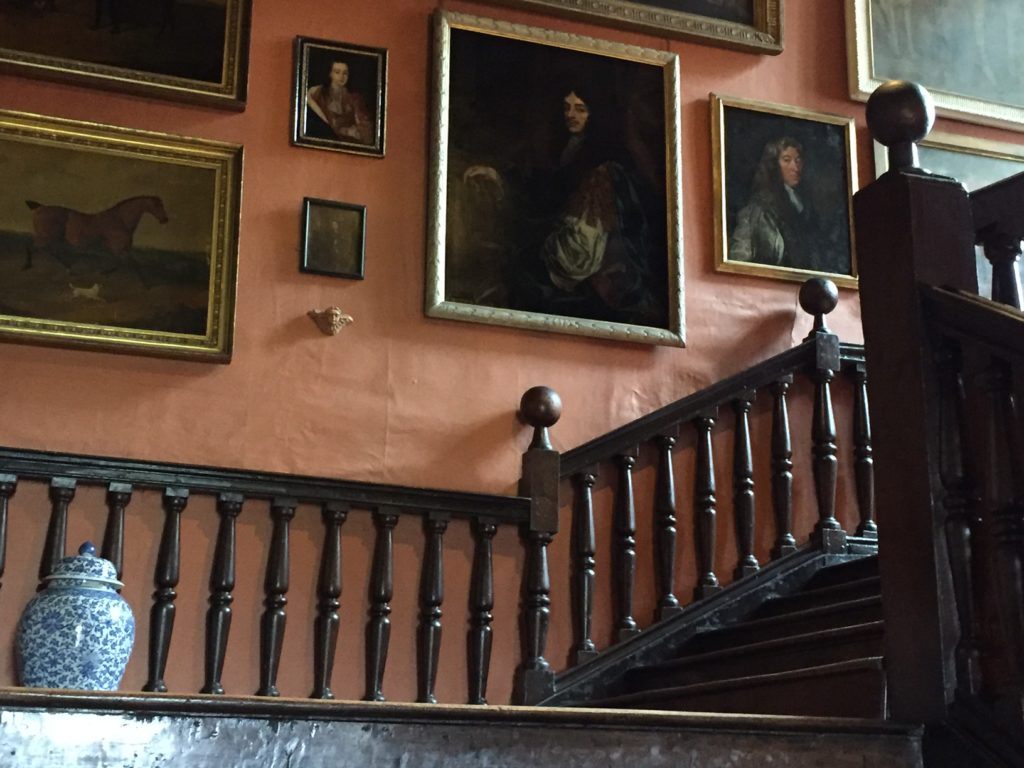 Stairway inside the manor home